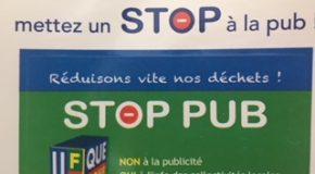 Prospectus publicitaires dans les boîtes aux lettres de Savoie:face au flot grandissant, le Stop Pub !